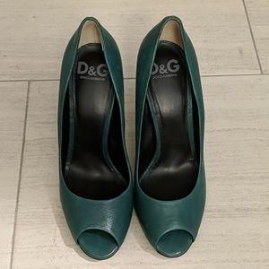 Dolce & Gabbana peep toe heels